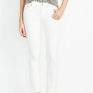 J. Crew White Wash Skinny Jean